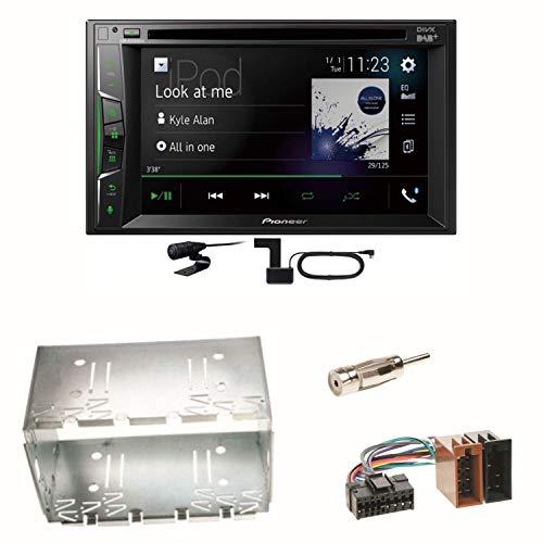 Pioneer AVH-A3200DAB USB Bluetooth Digitalradio DAB+ Autoradio Touchscreen Moniceiver Freisprecheinrichtung Weblink WAV Flac MP3 CD DVD Einbauset für Mercedes Vito Viano W639 W447 Sprinter