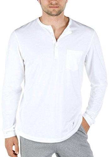 Calida - Shirt langa Remix Basic, T-shirt da uomo bianco (Weiß  (weiss 001))
