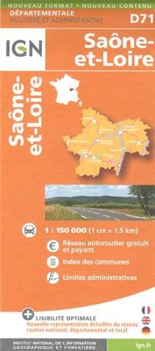 D71 SAONE-ET-LOIRE  1/150.000
