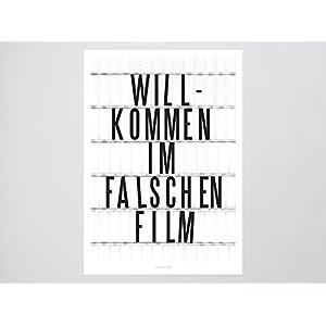 Kunstdruck Poster / Falscher Film