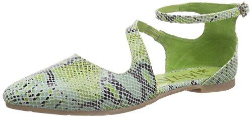 XYXYX Damen Sandale Knöchelriemchen Grün (Green)
