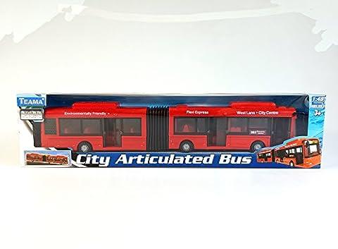 Bus articulé urbain, 41cm - Véhicule voiture auto de jeu miniature modèle À L'Échelle