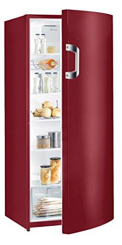 Gorenje R6152BR Kühlschrank / A++ / Höhe 145 cm / Kühlen: 302 L / Vulcano red / Umluft-Kühlsystem / 5 Glasabstellflächen