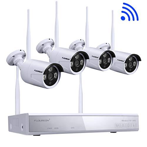 Kit de Seguridad DVR 4CH 1080P HDMI inalámbrico WLAN CCTV DVR NVR...