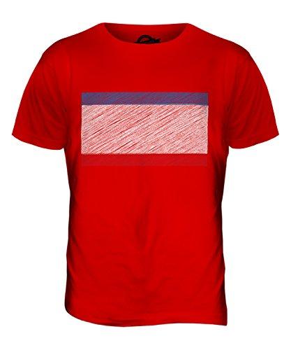 CandyMix Krim Kritzelte Flagge Herren T Shirt Rot