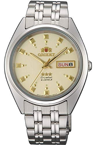 Orient Damen Analog Automatik Uhr mit Edelstahl Armband FAB00009C9