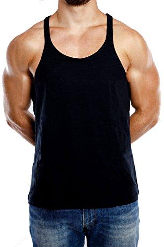 Stringer Tank Top Herren Gym Muskelshirt aus 100% Baumwolle in schwarz & weiss   Fitness & Bodybuilding Muscle Shirt