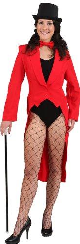 roter Frack zum Damen Show Kostüm an Karneval Fasching - Vintage Zirkus Kostüm