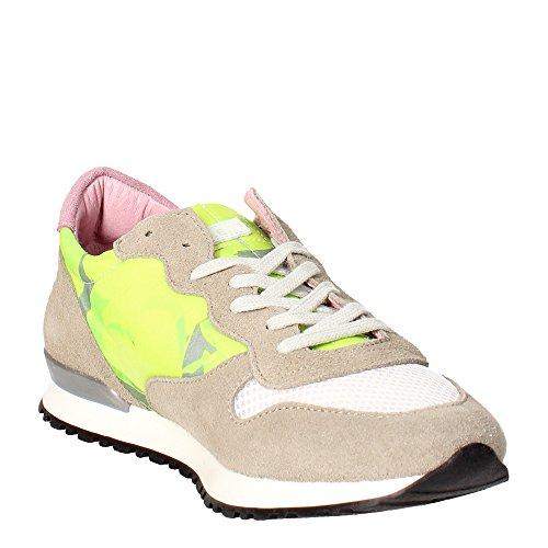 D.a.t.e. BOSTON Sneakers Femme Jaune