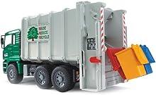 Bruder 02764 - Camión de carga MAN, color verde y blanco