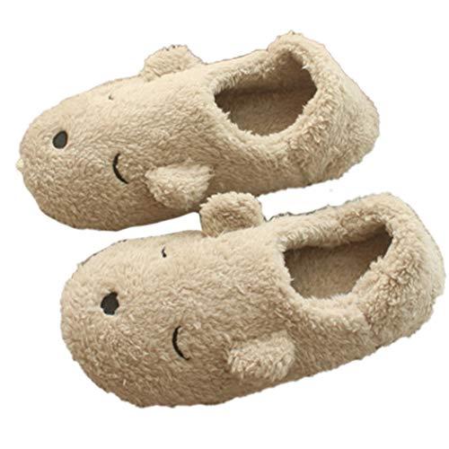 (Frauen Hausschuhe Stiefel Super Weiche Gemütliche Komfortable Mädchen Kunstpelz Katze Tabitha Slip-on Hamster Katze Plüsch Schuhe)