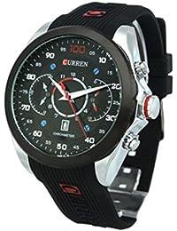 Hombre Reloj - CURREN Reloj De Hombre Resistente al agua Army Military Acero Auto Dial Fecha Plateado