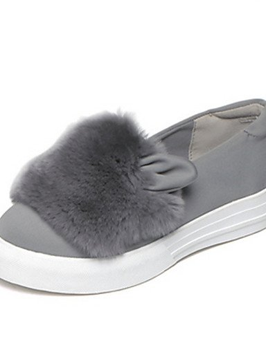 ZQ gyht Scarpe Donna - Mocassini - Casual - Punta arrotondata - Piatto - Scamosciato - Nero / Grigio , gray-us8 / eu39 / uk6 / cn39 , gray-us8 / eu39 / uk6 / cn39 gray-us8 / eu39 / uk6 / cn39