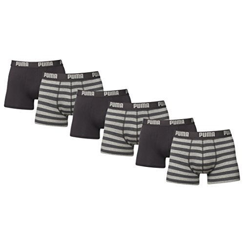 Puma Striped Herren Boxershort 6er Pack neue Kollektion 2015/2016 Grey