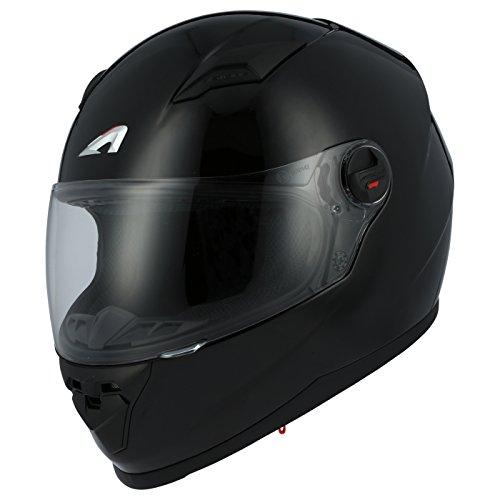 Astone Helmets gt2m-bks Casco Moto Integrale GT Lucida, Nero Lucido, taglia S