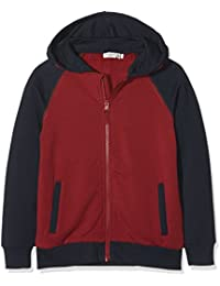 NAME IT Jungen Sweatjacke Nkmvoltano SWE Card Wh Bru L