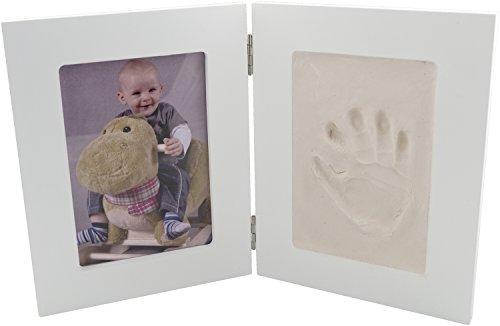 Bieco 76000000 - Abdruckset mit Zweifachrahmen Komplettset für einen Abdruck und ein Foto