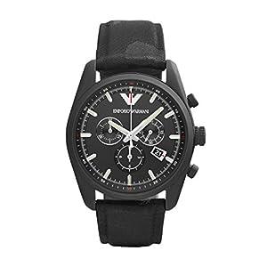 Emporio Armani AR6051 - Reloj de cuarzo para hombre, correa de tela color negro de Emporio Armani