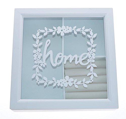 Charming House Design Weiße Holz-Schmuck-Box für Schrank/Trinket Weihnachtsgeschenk, für Ihren Haushalt -