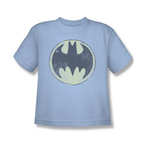 Batman - Jugend Old Time Logo T-Shirt in hellblau, X-Large, Light Blue (Batman-logo-jugend-t-shirt)