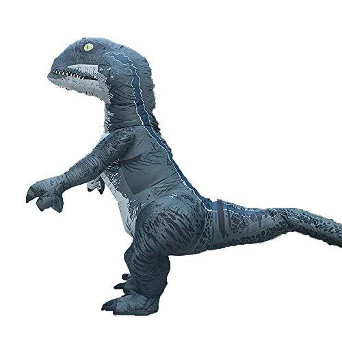 Disfraz hinchable de dinosaurio de Halloween, traje de disfraz de tiranosaurio para adulto