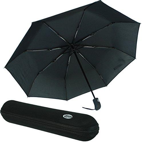 Regenschirm schwarz mit Etui - 2