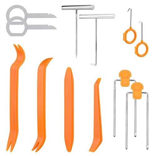 OOTSR 12 Stücke Auto Tür Clip Panel Trim Removal Tools Hebeln Tools Kits Fit für Autoradio Stereo Dashboard Audio Entfernung Installer Pry Tools Set (Auto-tür-panel-reparatur)