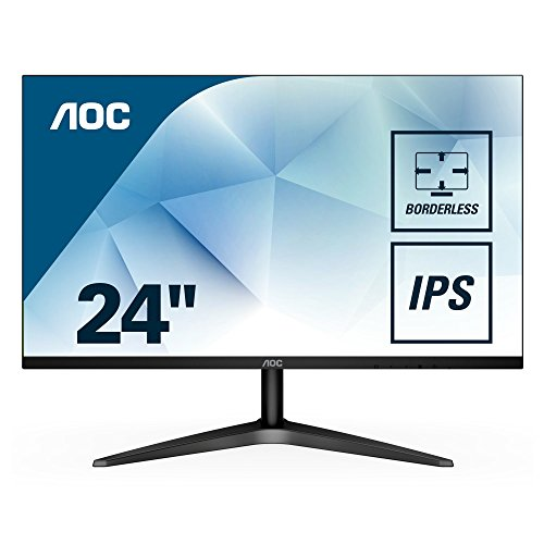 "13. AOC 24B1XHS 23.8"" LED Monitor withHDMI/VGA Port, Full HD, Wall Mountable, 3 Side Borderless"