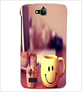 PrintDhaba Smiley Mug D-1204 Back Case Cover for HUAWEI HONOR HOLLY (Multi-Coloured)
