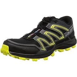 Salomon Speedtrak, Zapatillas de Trail Running para Hombre, Negro (Black/Magnet/Sulphur Spring 000), 42 EU