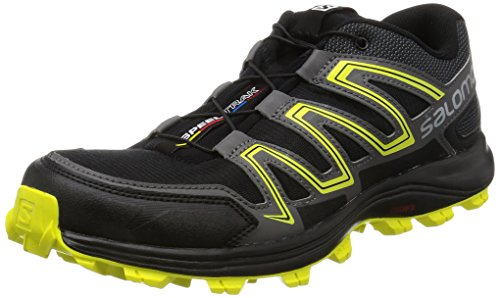 Salomon Speedtrak, Zapatillas de Trail Running para Hombre, Negro (Black/Magnet/Sulphur Spring 000),...