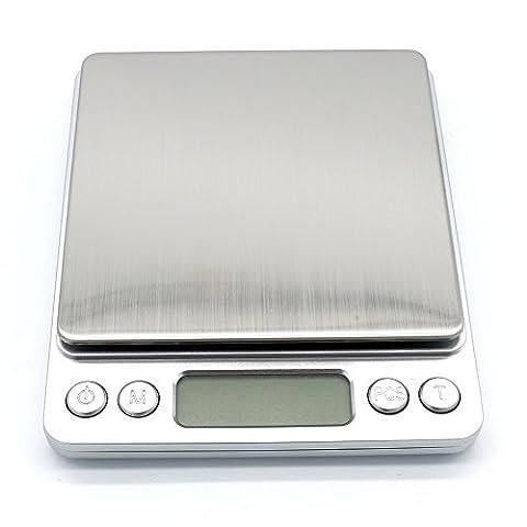 USUN 0.1G-2000 G Digital elektronische Taschen Goldschmuck Wiegen Münze Küchenwaage