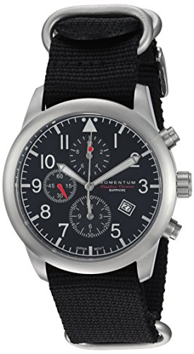Momentum Men's Analog Japanese-Quartz Watch with Nylon Strap 1M-SN34BS7B
