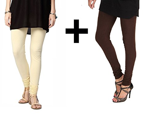 Cream ,Brown churidar leggings for women -churidar leggings online sale-Best Quality Colour variation ( Overall 30 Colours available) Legging - Churidar Length- Original -fine fabric only for girls /W