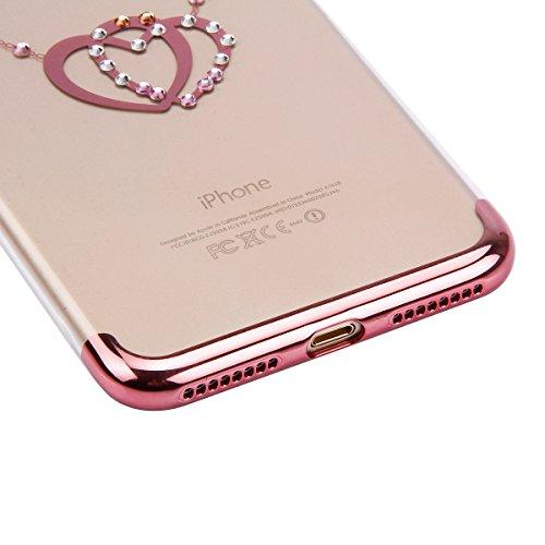 iPhone 6S Tpu Handyhülle,iPhone 6 Silikon hülle,JAWSEU Kreative Gradient Color 360°Schutz Durchsichtig Weich Gel Ultradünn Case Etui Transparent Clear Slim Fit Flexibel Rubber Fall Tasche Schutzhülle  Rose Gold,Liebe Herz