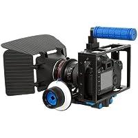eimo DSLR Cage Set y compris la caméra Rig Cage Cage + Follow Focus + Matte Box pour appareil photo reflex numérique / vidéo et caméscopes comme Canon 5D Mark II, 7D