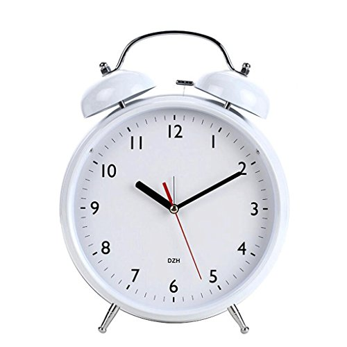 Preisvergleich Produktbild ZLR Kreative Stummschaltung Weiße Farbe Stummwecker Schlafzimmer Metall Elektronische Uhr ( Farbe : Weiß )