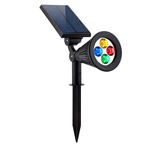 LED-Licht Solarleuchten 2-in-1 wasserdicht 4 LED Solarscheinwerfer Verstellbare Wandleuchte Landschaftslicht Dark Sensing Auto Ein/Aus für Patio Deck Yard Garden Einfahrt Poolbereich Licht