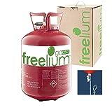 Freelium® go 250 - Helium / Ballongas to Go Flasche mit 0,25 m³ / 250 Liter + inklussive 30x Ballonband für max. 30 Ballons - für Hochzeit Liebe Valentinstag Kindergeburtstag