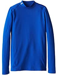 Under Armour Top CG Evo Fitted Camiseta con mangas largas, Color Azul Real/ Acero, Talla YLG (12 años)