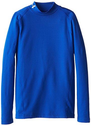Under Armour Jungen Fitness - Sweatshirt CG Evo Fitted Long Sleeve Mock, Blau (Royal/Steel), YLG