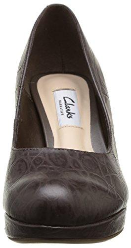 Clarks Crisp Kendra, Scarpe col tacco Donna Beige (Beige (Taupe Leather)