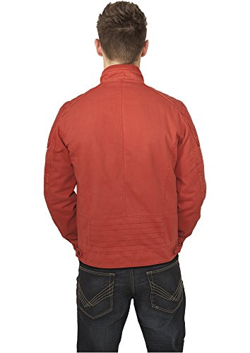 Urban Classics Cotton/Leathermix Racer Jacket Red