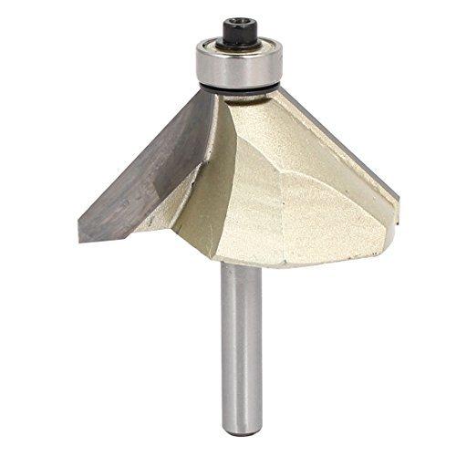 DealMux 1/4-Zoll-Schaft 1-Zoll Schnittlänge Kugellager 45 Grad Fasen Fräser (Kugellager 1 4 Zoll)