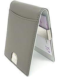 CRS Wallet Ledergeldbeutel mit Münzfach & Geldklammer. Portmonee for Men mit Fächern für Kreditkarte. Geldbeutel - kompakt, klein, smart u. dünn.