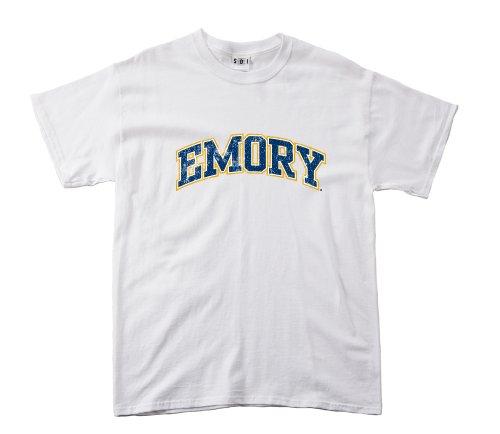 NCAA Emory Eagles 100Prozent, Vintage Arch Short Sleeve Tee, Herren, weiß -