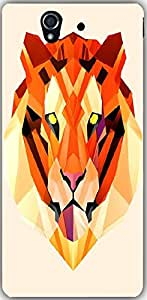 Snoogg Polygon Tiger 2896 Case Cover For Sony Xperia L 36