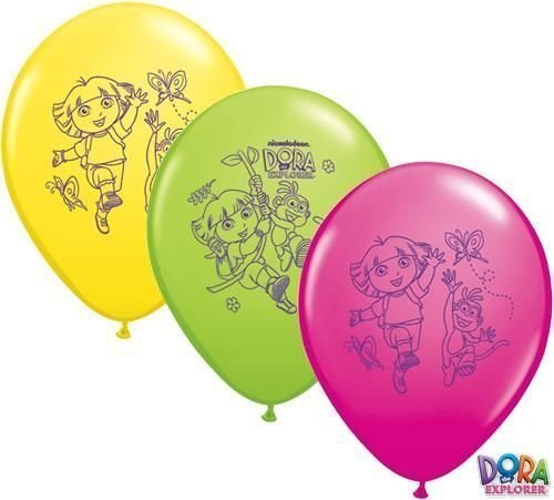 Dora The Explorer Sans Message 27.9cm Qualatex ballons en Latex x 5