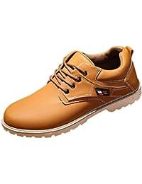 Tefamore Zapatos Hombre Botas Martín de Suave Mocasines de Casual Forrado de Piel Caliente Otoño e Invierno