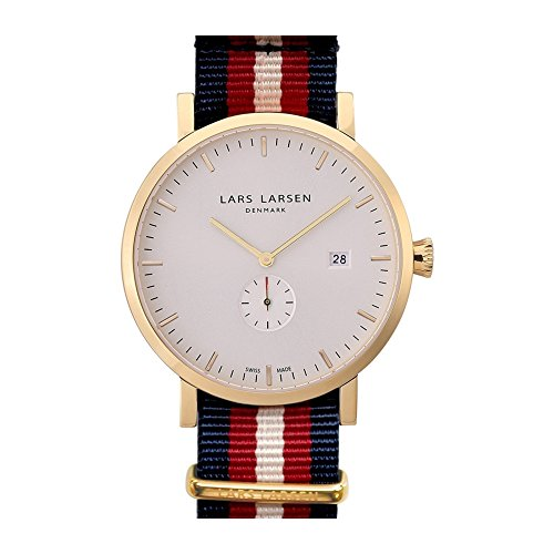 Lars Larsen 131GWNN–Montre de Poignet pour homme, bracelet en nylon